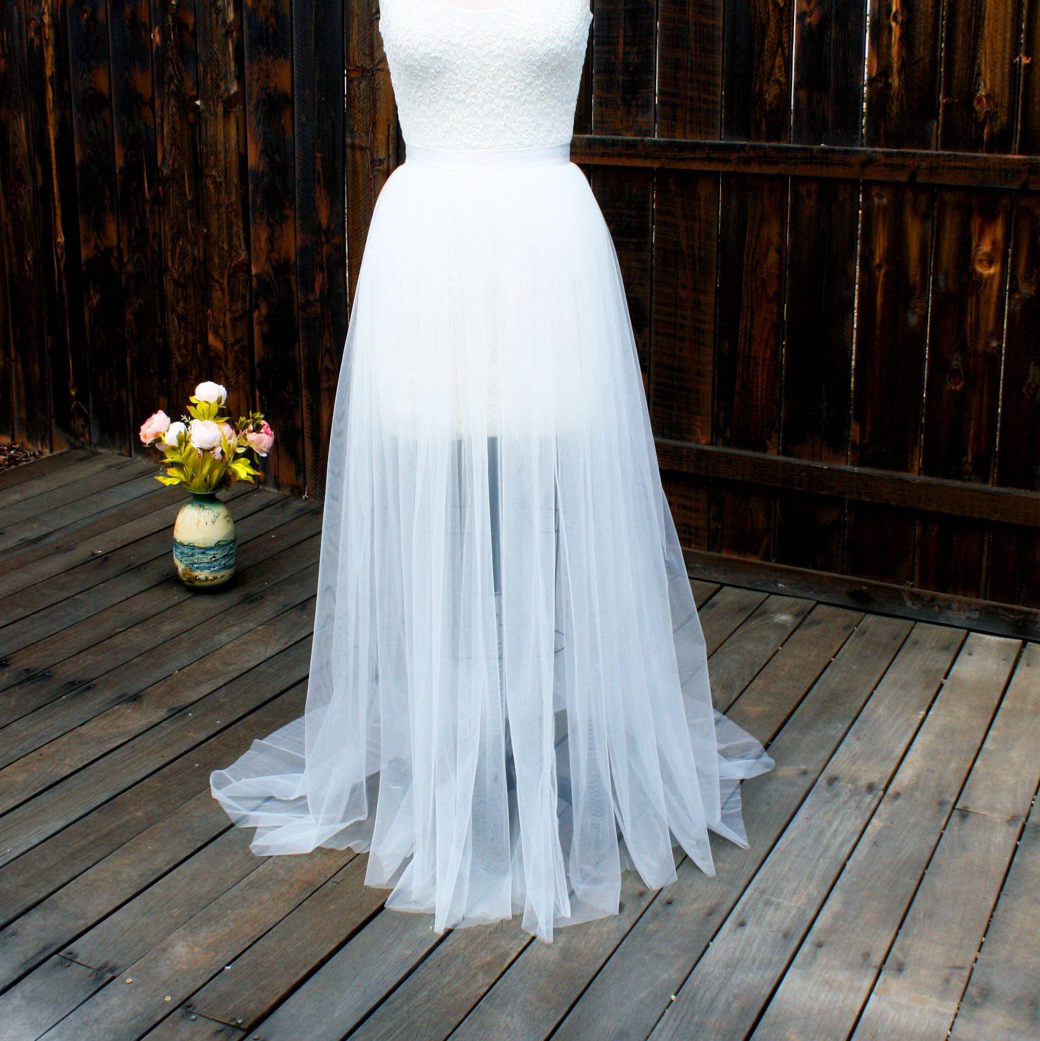 Tulle skirt wedding dress  Detachable Bridal Skirt Wedding Overskirt Tulle Overskirt