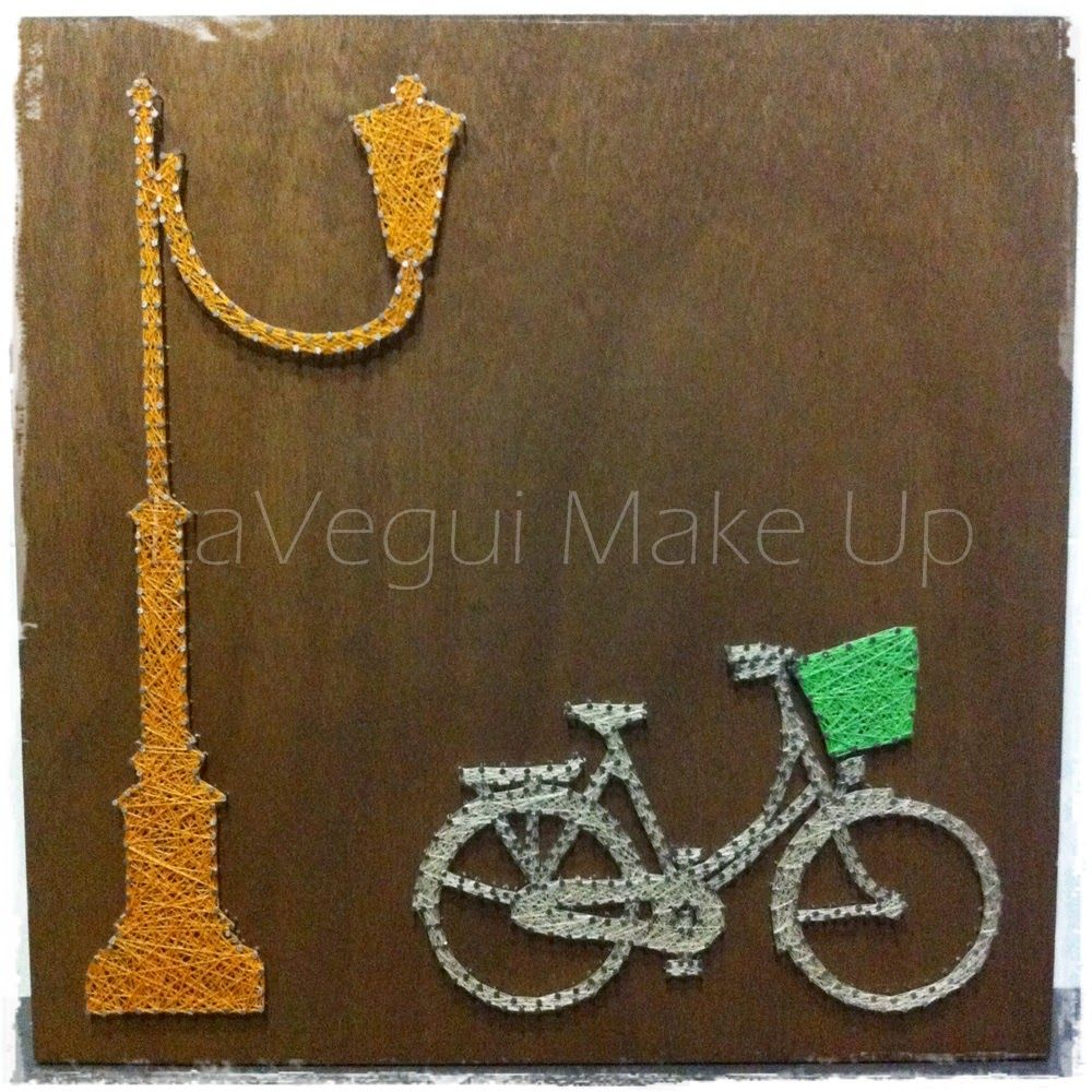 Deco DIY: Cuadro de hilo tensado! http://lavegui.blogspot.com.es/2015/03/diy-deco-cuadro-bicicleta-de-hilo.html