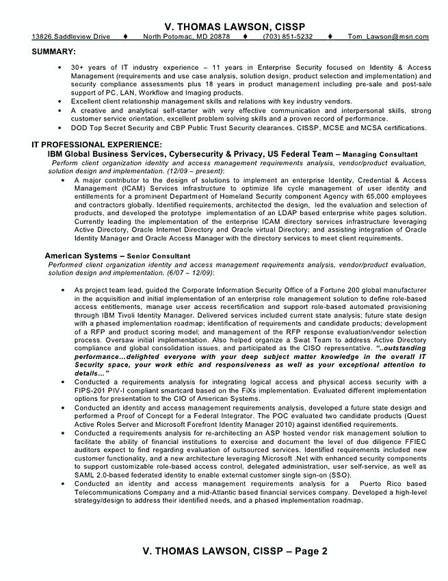 Management Resume Identity And Access Management Resume Sample  Identity And Access