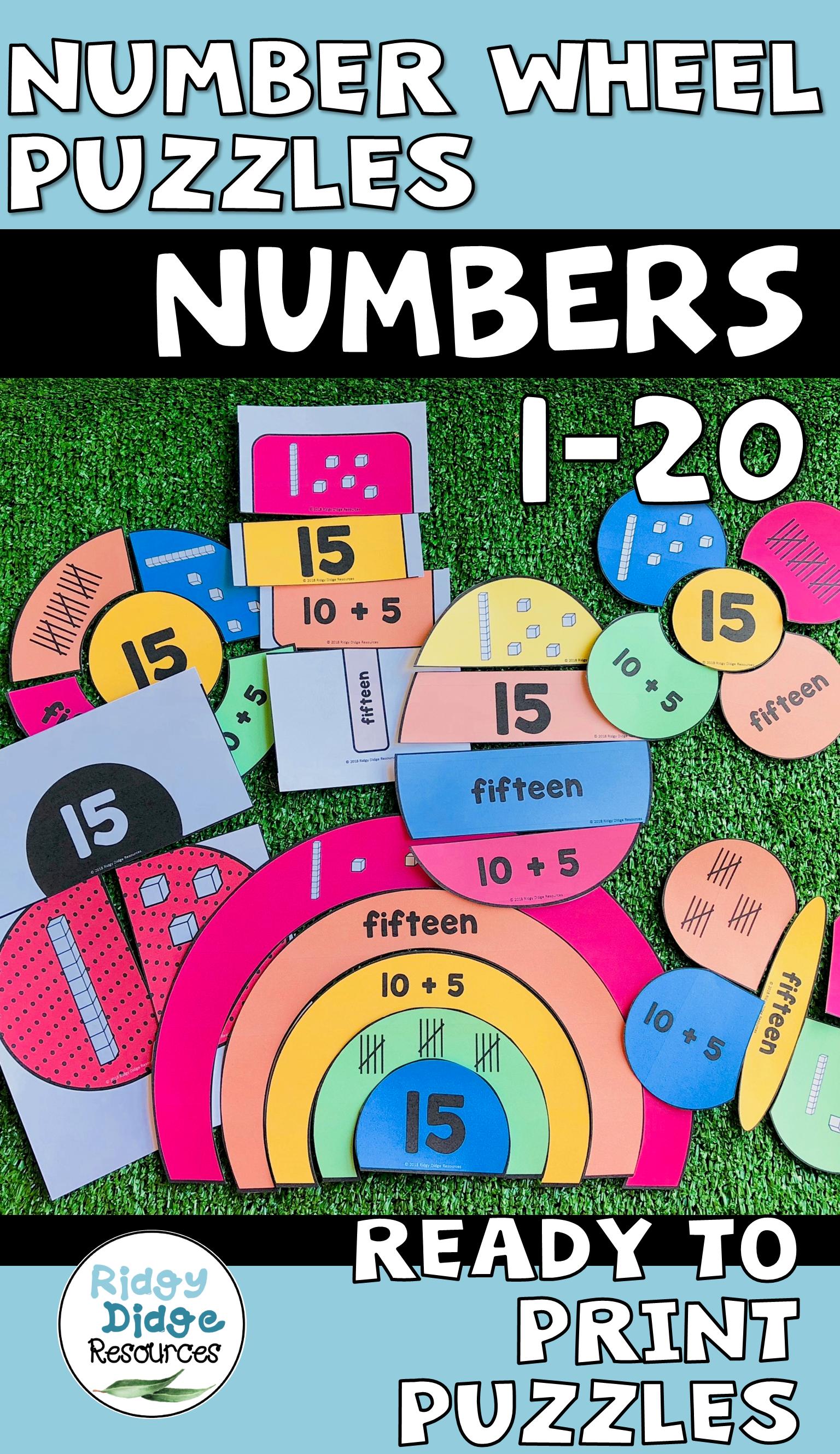 Place Value Numbers 1 20 Puzzles Bundle