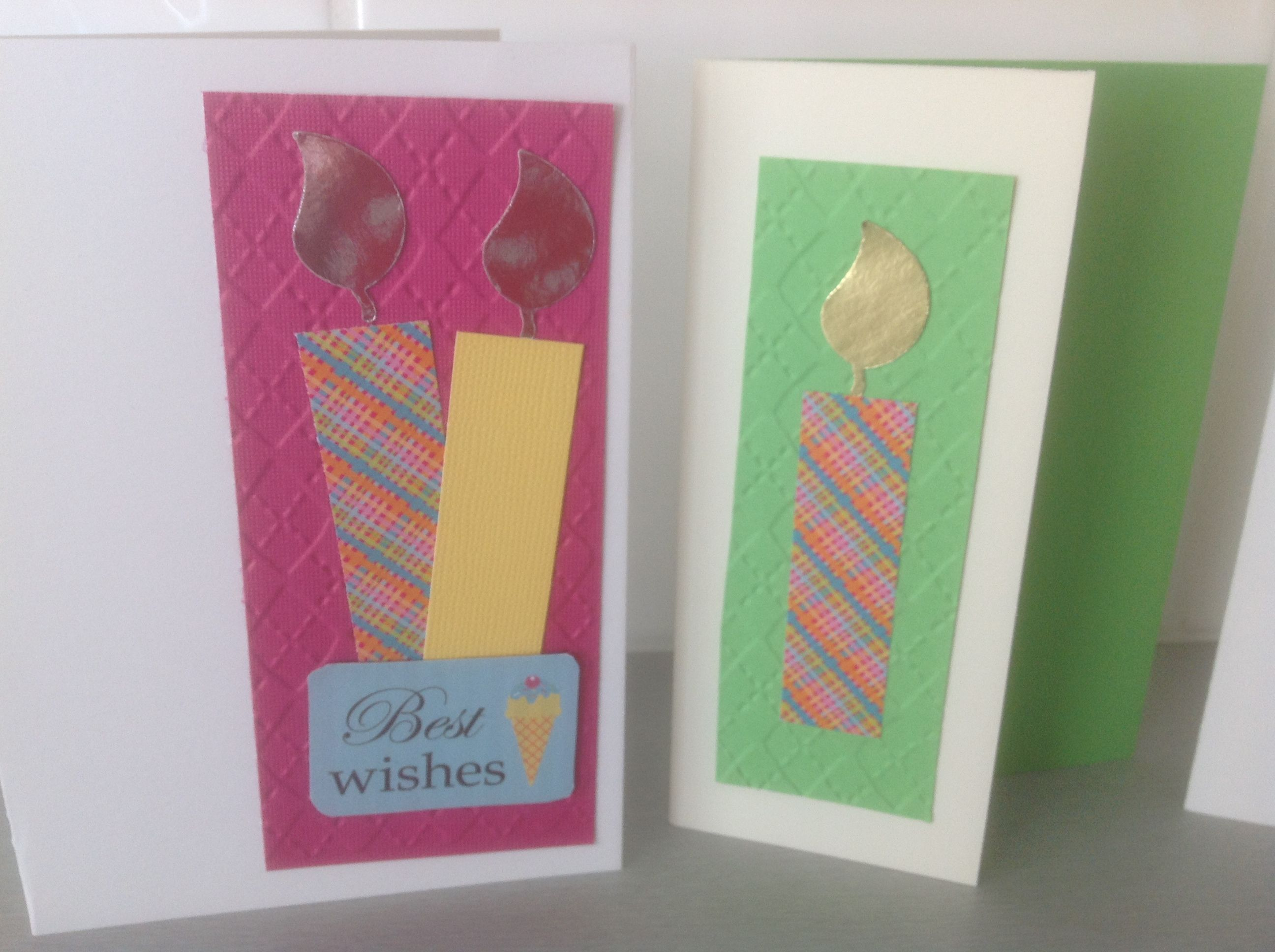 How To Make A Birthday Card From Offcuts Crafts Pinterest