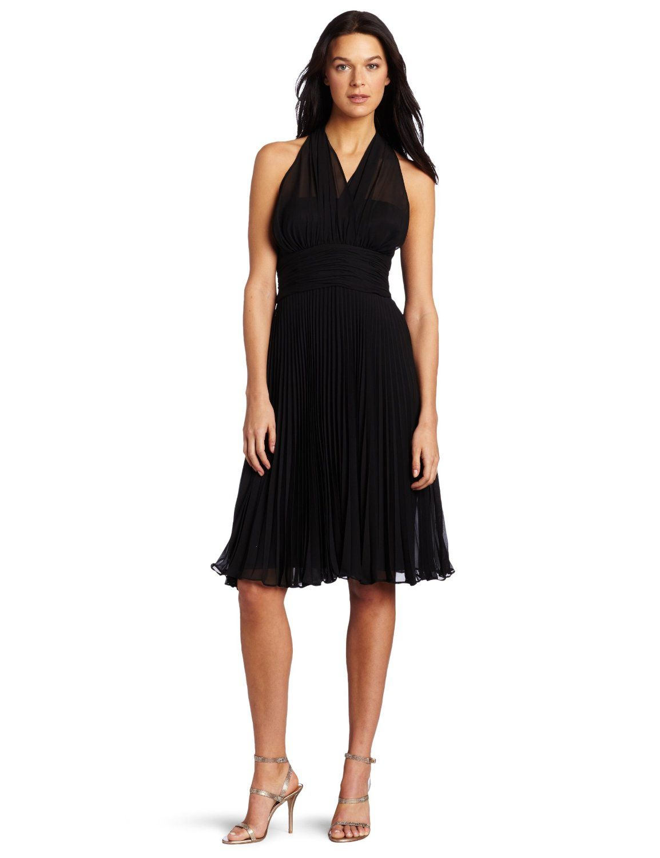 Evan Picone Women's Picone Chiffon Halter Dress