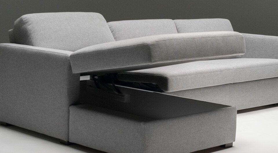 Designer 3 Sitzer Schlafsofa Mit Lattenrost In Grauer Stoffausfuhrung Und In Der Hochstmoglichen Qualitat Design Schlafsof Design Schlafsofa Sofa Sofa Design