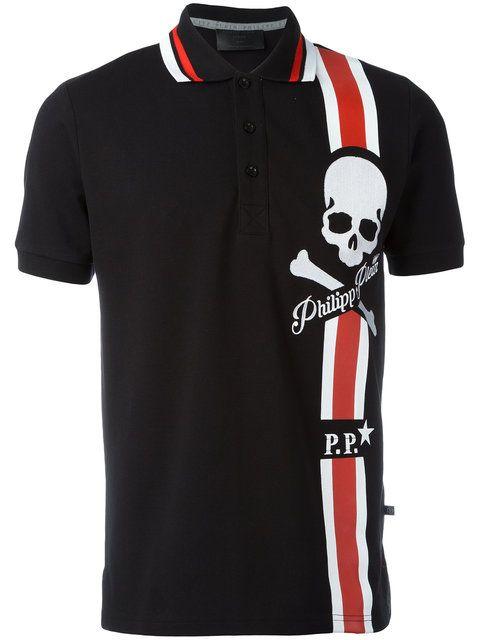 3d3e8f4ae Philipp Plein print polo shirt | T-shirts in 2019 | Printed polo ...