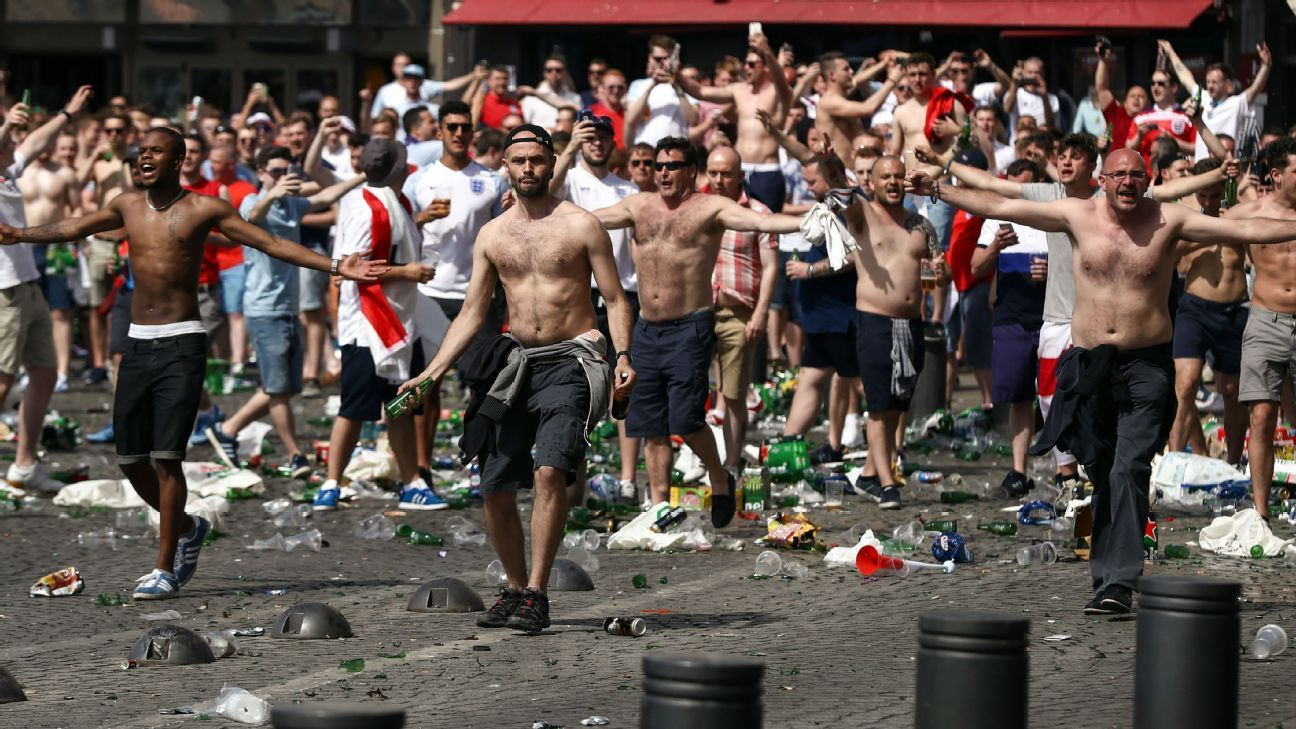 What's the trouble with England's travelling football fans