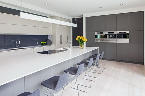 Modern White And Gray Kitchen modern white and gray kitchen | kitchen and bath | pinterest