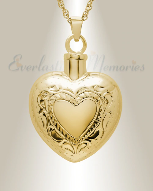 Pin By Stephanie Bottom On Jewelry Ideas In 2020 Heart Pendant Gold Heart Jewelry Urn Necklaces