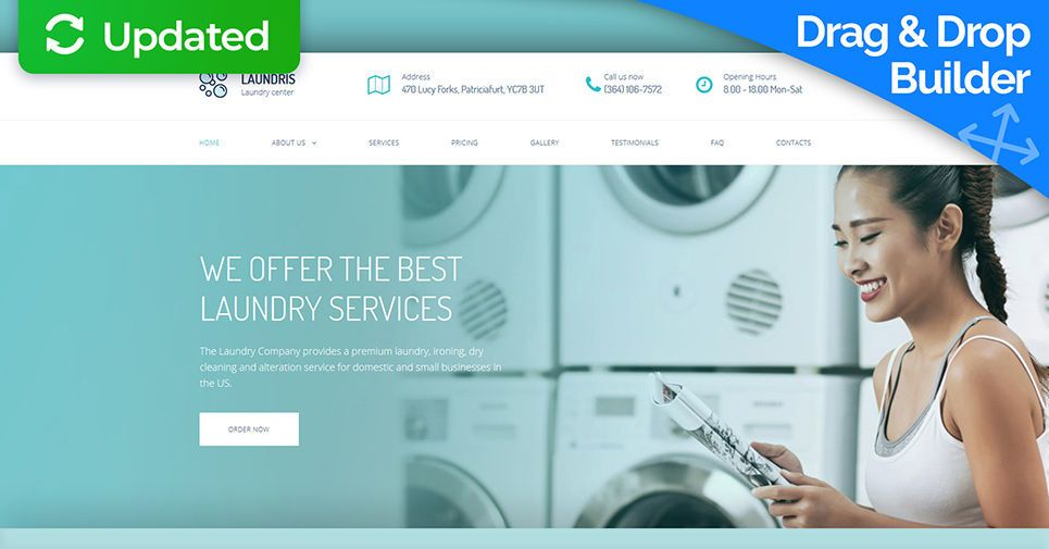 Laundromats Laundry And Dry Cleaning Premium Moto Cms 3