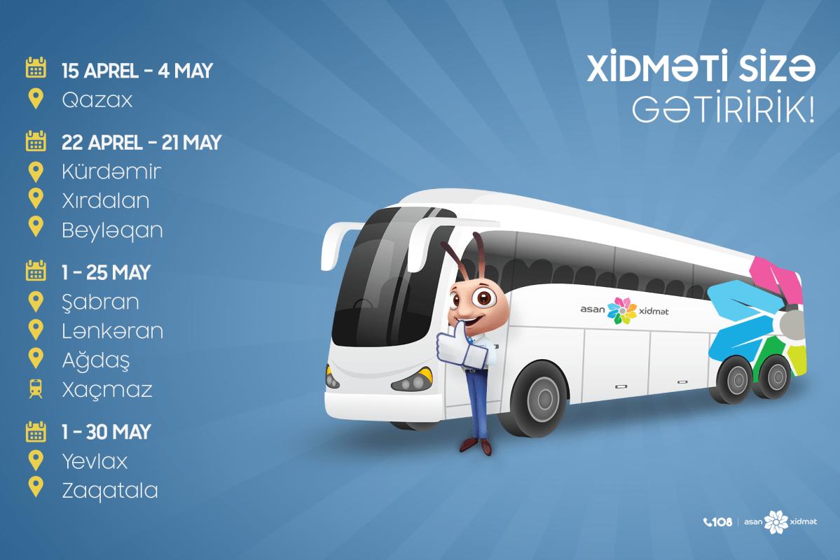 Səyyar Asan Xidmət Davam Edir Frame Az Van Vehicles Bus
