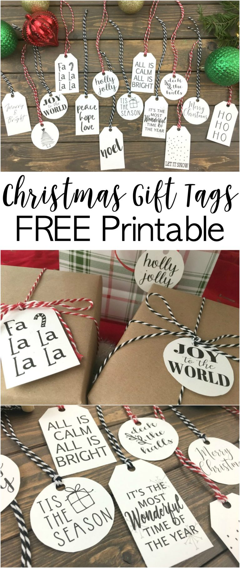Simple Christmas Gift Tags - FREE Printable - Dream Design DIY