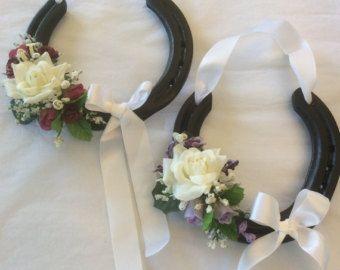Real Decorated Wedding Horseshoe In Luxury Box By Handmadeiow