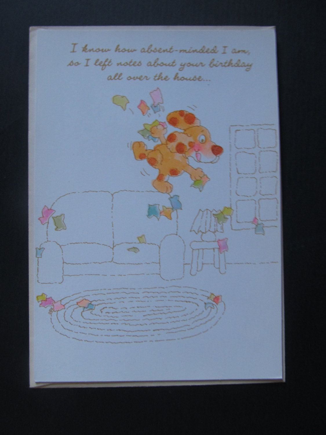 Birthday Card Late With Dog Absent Minded Late Bday Cute Sorry