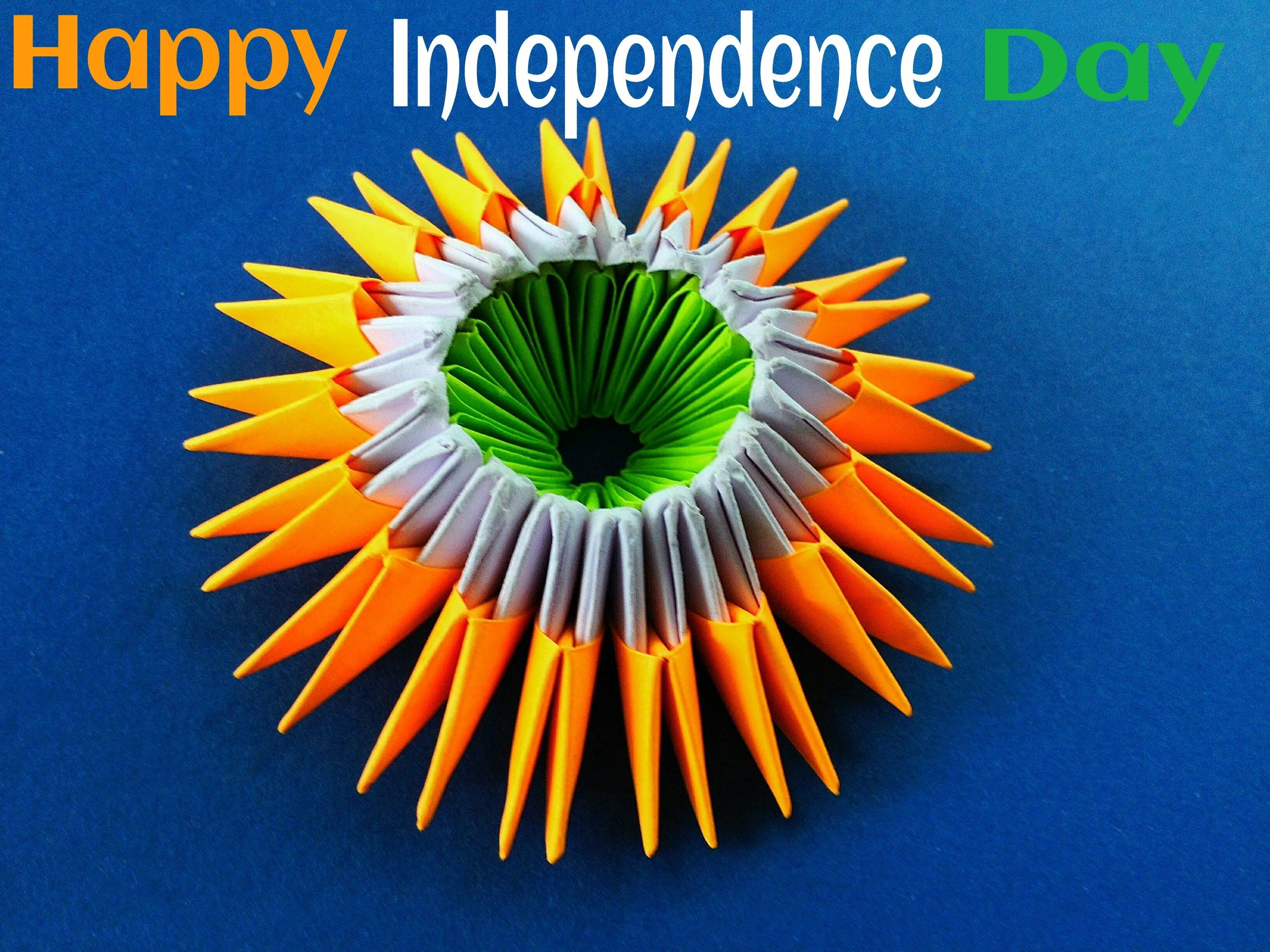 modular origami special quotindian independence dayquot paper