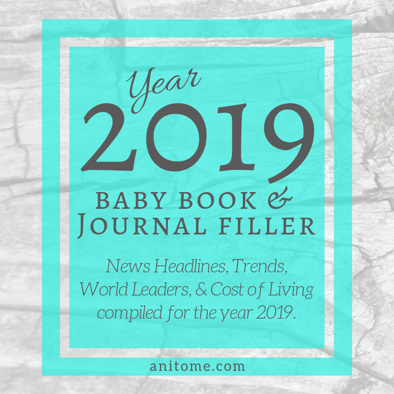 Year 2019 Baby Book Journal Filler Book Journal Baby Book Books