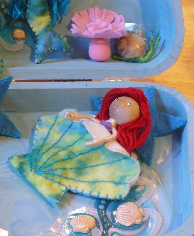 Mermaid Bendy playsets | Mermaid stuff | Pinterest | Clothespin ...