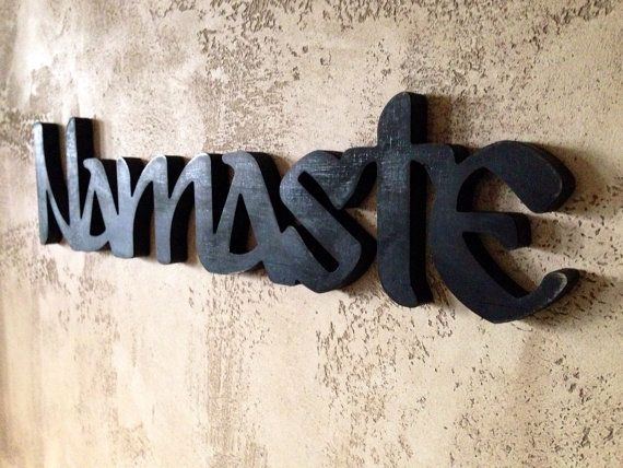 Namaste Yoga Sign Good For Meditating Room Or Area