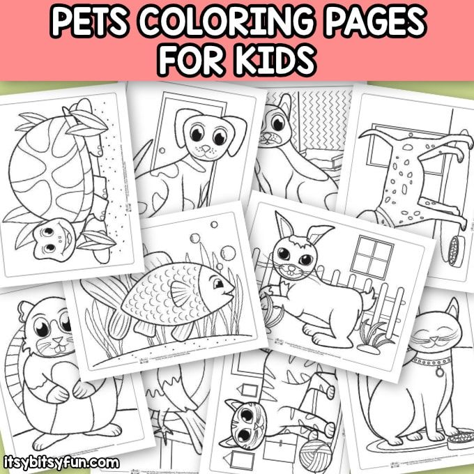 Pets Coloring Pages for Kids (With images) Coloring