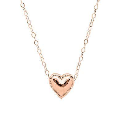 Teeny Tiny Heart Pendant in 14k Rose Gold  available at #HelzbergDiamonds
