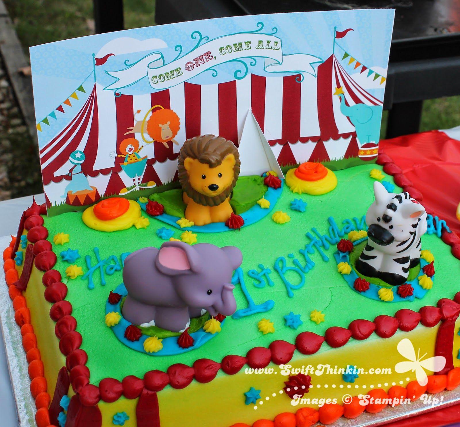 Swift Thinkin Big Top Birthday Madagascar cake dressed up Circus