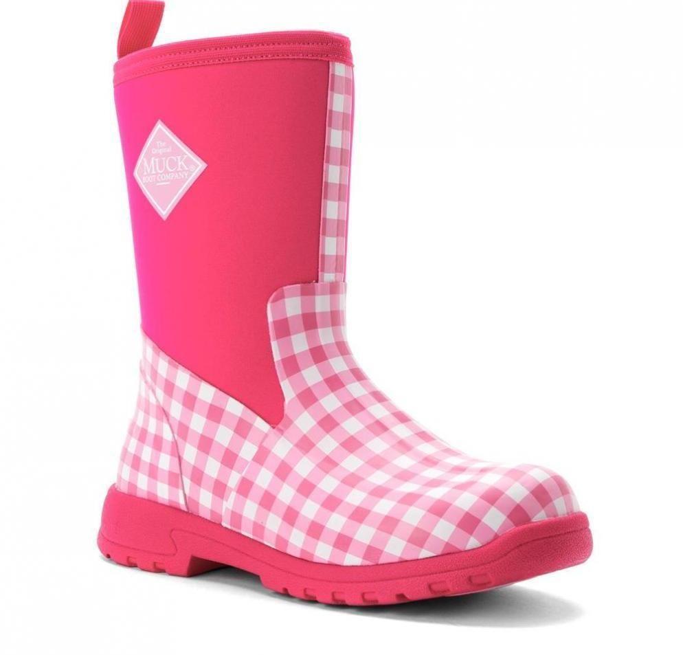 a7de51d76f12 Girls Shoes 57974  Kids Muck Pink Breezy Mid Insulated Rain Snow Boots 12-13
