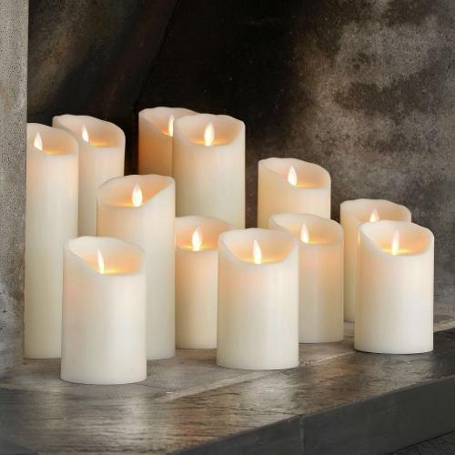 Sompex Flame LED Die Echtwachskerze mit Timer ist fernbedienbar und - licht ideen wohnzimmer