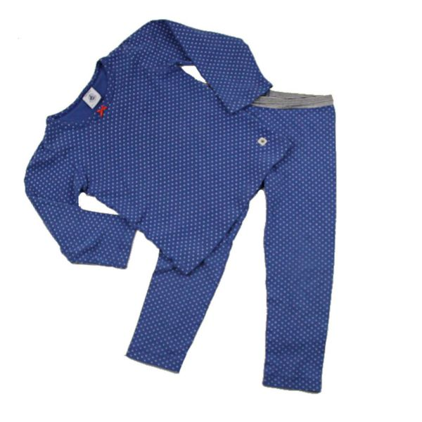 Girls 2 Piece Blue Polka Dot Pjs In Size 3 By Petite Bateau 4 50 Baby Clothes Online Baby Sleepers Blue Polka Dots