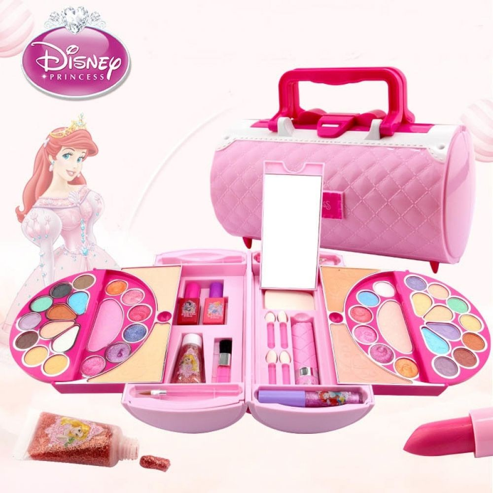 Disney Pretend Play Beauty Fashion Toys Childrens Cosmetics Princess Makeup Set Girl Toys Portable Makeup Bag Birthday Gift
