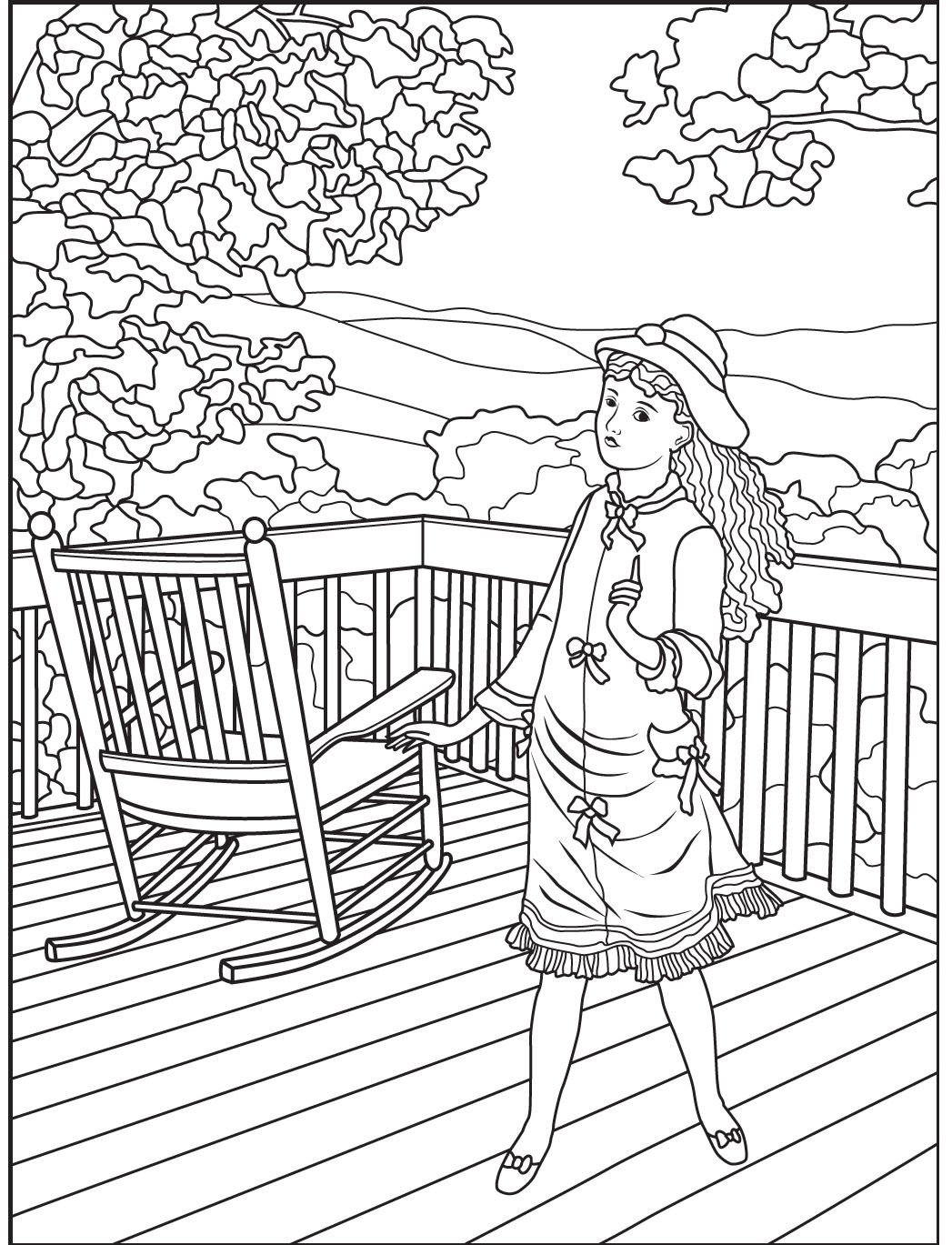 Veranda Coloring Page Colorish Free App For Adults By Goodsofttech