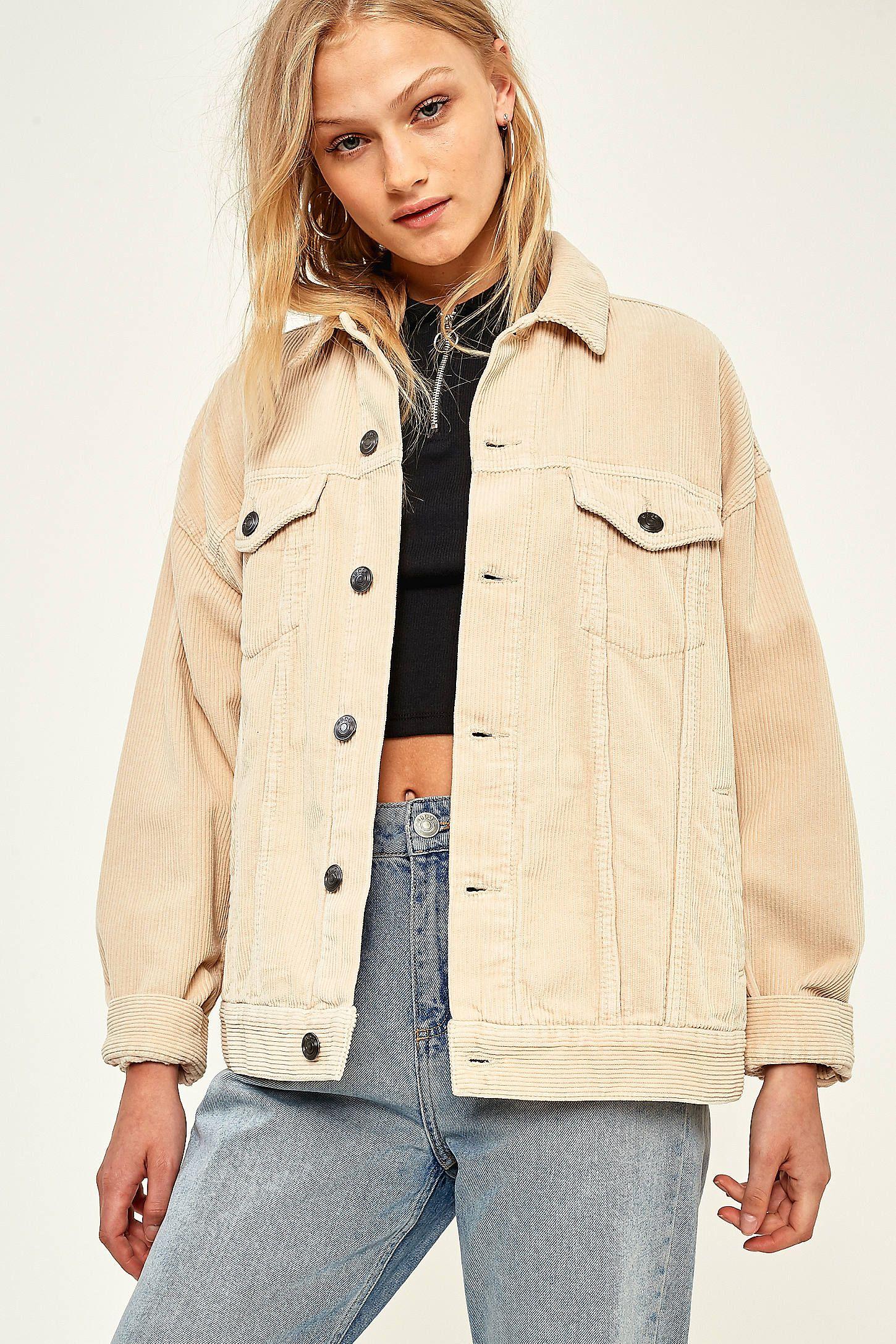 372465268f878 BDG Cream Corduroy Jacket   Shopping   Vetements, Mode et Chaussure