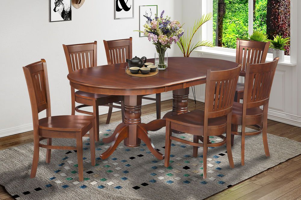 Details About 7 Pc Oval Dinette Kitchen Dining Room Set 42 X78