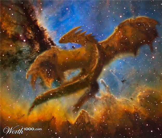 """Dragon Nebula"" is what original pinner said. However, it's from a Photoshop contest. Nicely done, though."