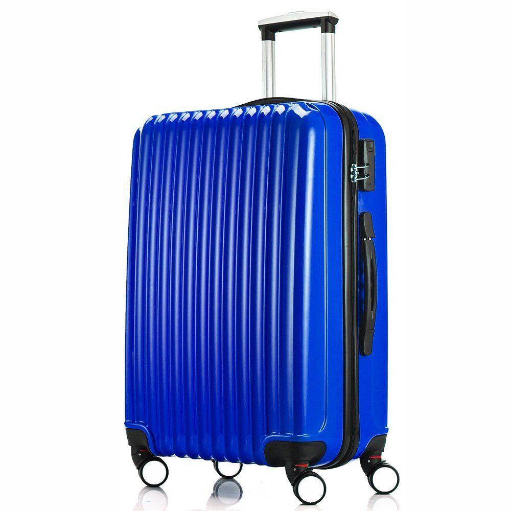 Fochier Luggage Medium Suitcase Lightweight 4 Wheels in Blue 24 ...