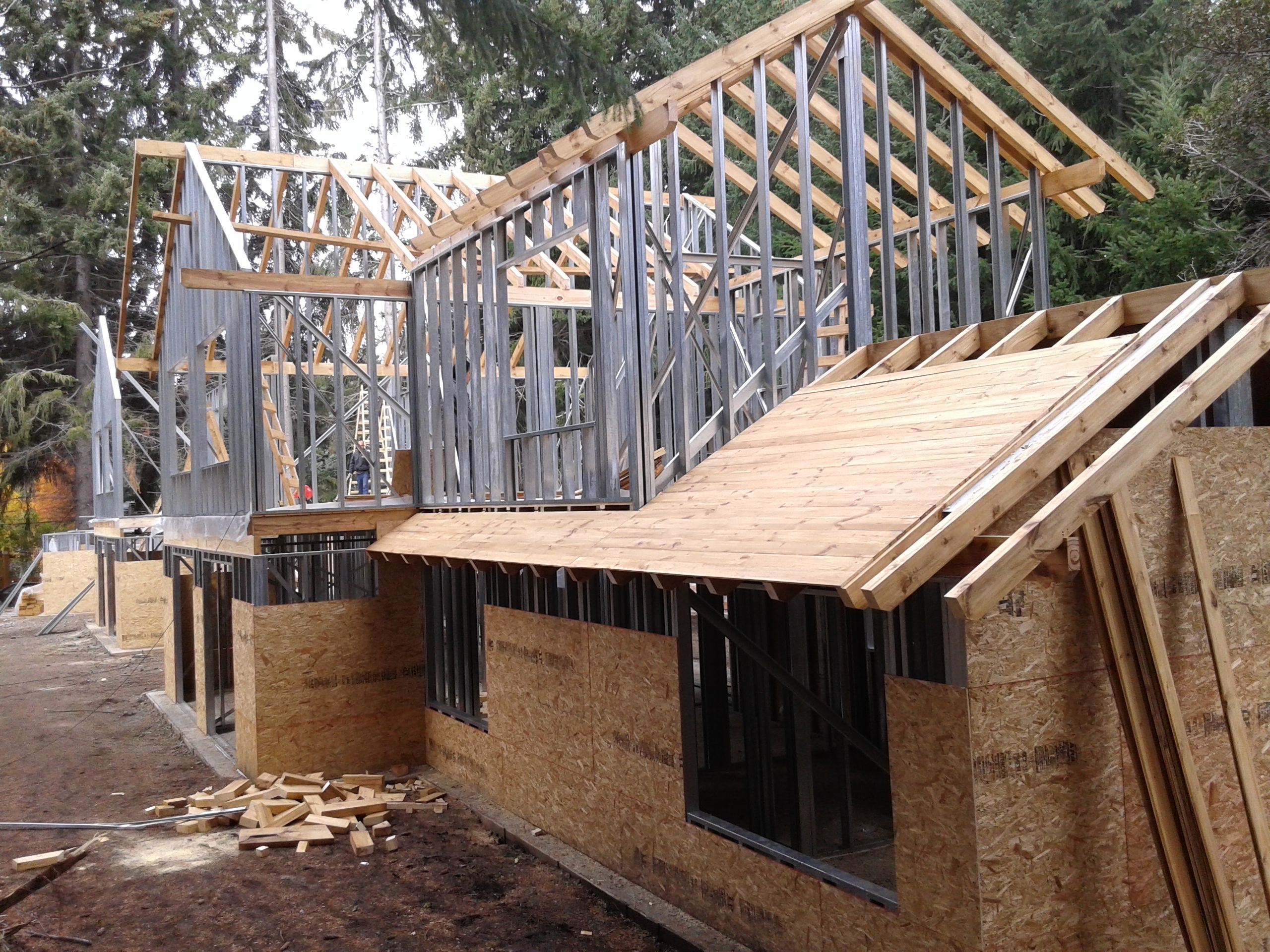 Estructura Steel Frame Hosteria En La Montana Villa La Angostura