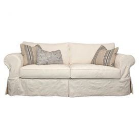 Merveilleux Slipcover Style Cotton Sofa With Foam And Hypoallergenic Down Feather Blend  Cushioning. Made