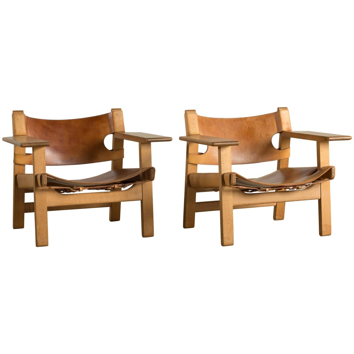 Pair Of Borge Mogensen Spanish Chairs For Fredericia Furniture My 1stdibs Favorites Furniture Chair Armchair