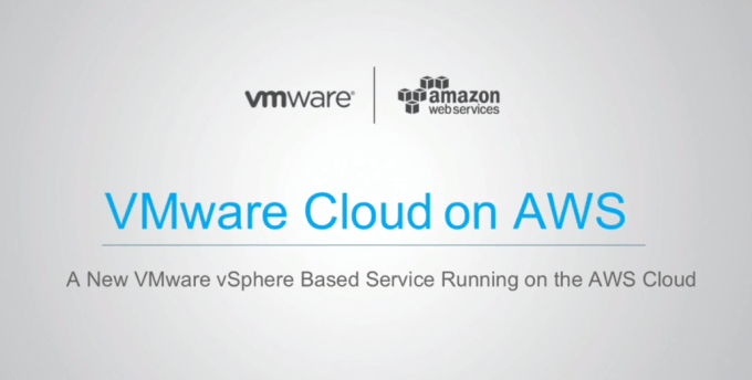 VMwares new cloud service will run on AWS