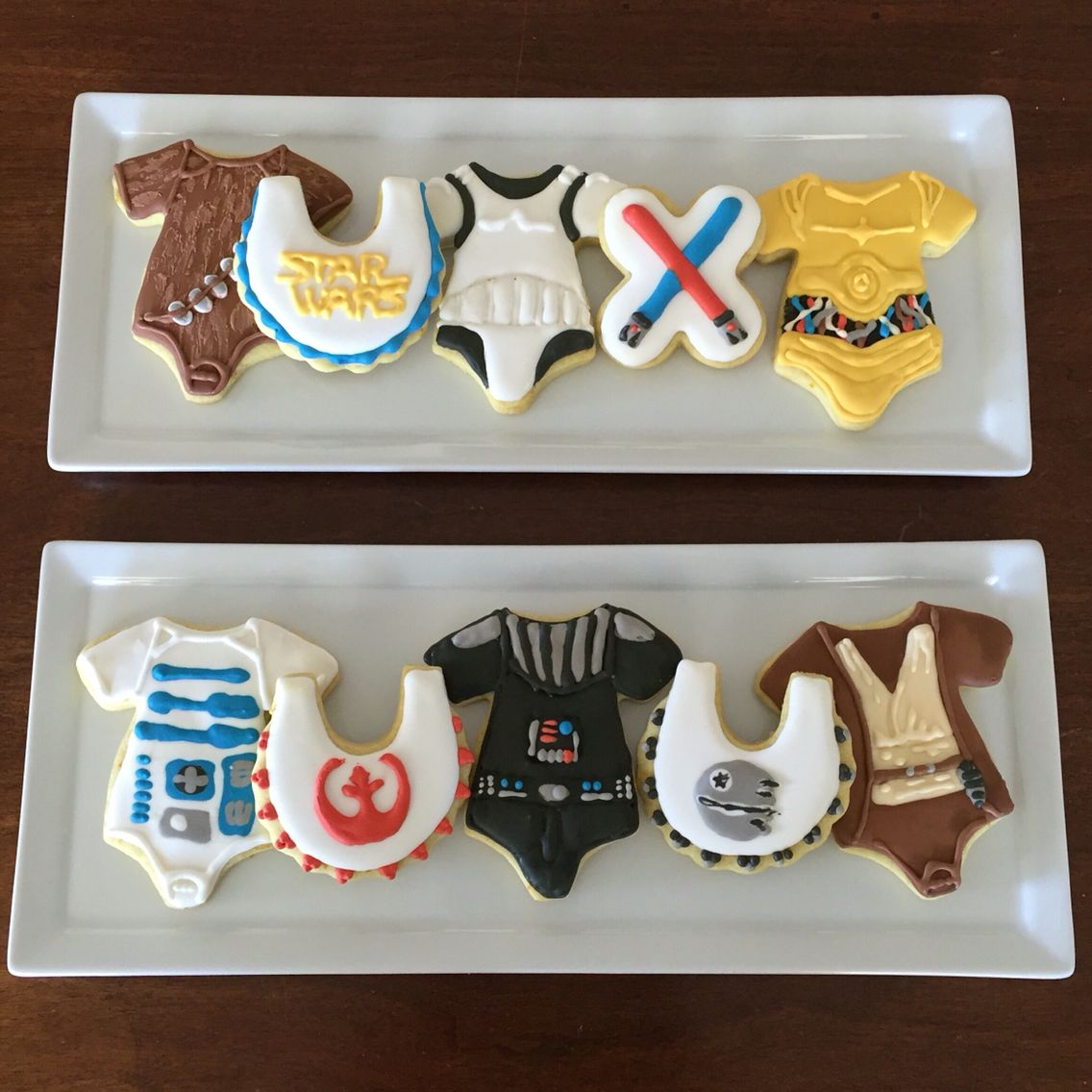 Cookies I Made For A Star Wars Baby Shower.