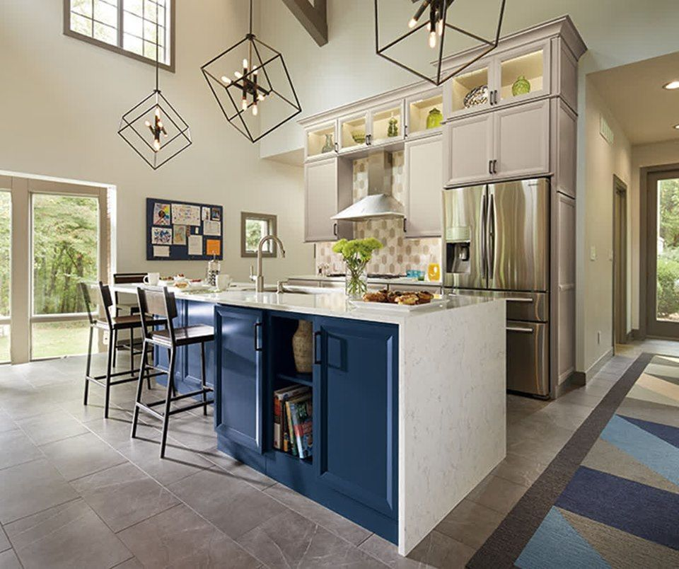 The Naval island provides a perfect pop of color and ...