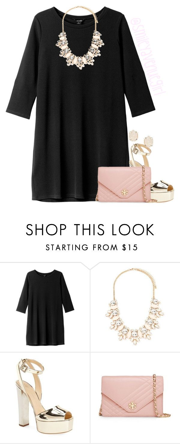 """""""#newyearsevebash // read d"""" by smileyavenuegirl ❤ liked on Polyvore featuring Monki, Forever 21, Giuseppe Zanotti, Tory Burch, Kendra Scott and newyearsevebash"""