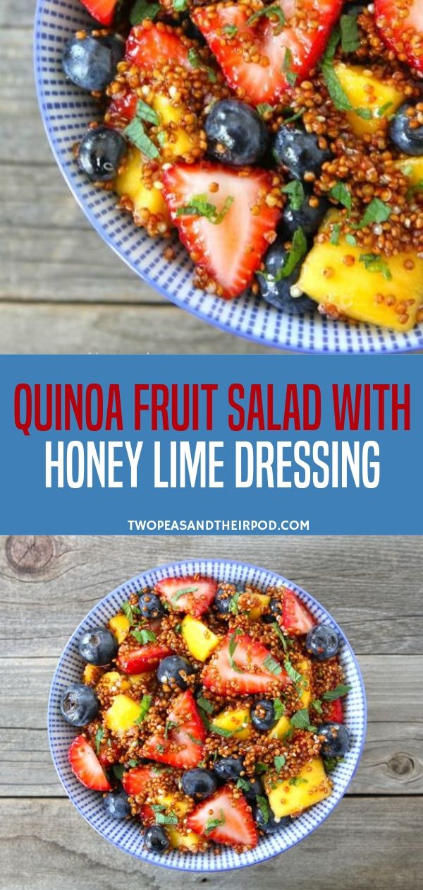Quinoa Fruit Salad with Honey Lime Dressing -   10 healthy recipes Quinoa honey ideas