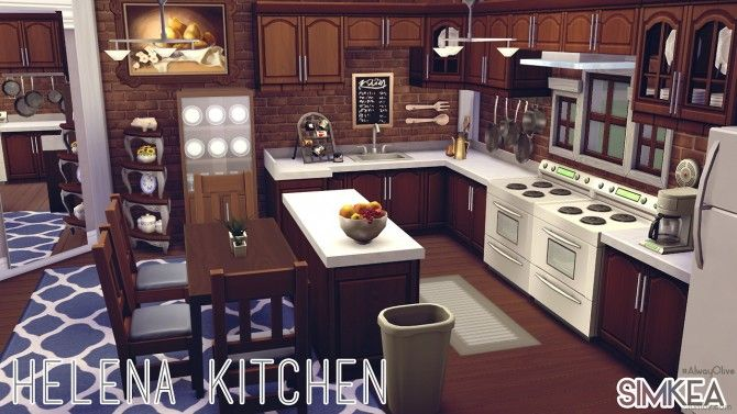 Helena Kitchen By AlwayOlive At Simkea Via Sims 4 Updates