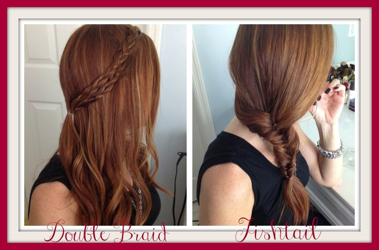 Quick and easy double braid and fishtail video howto