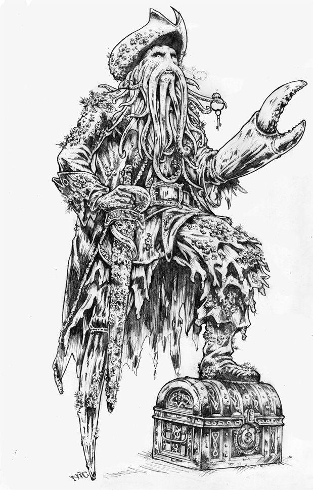 Davy Jones By Nicojeremia75 On Deviantart Pirate Art Davy Jones Pirate Tattoo