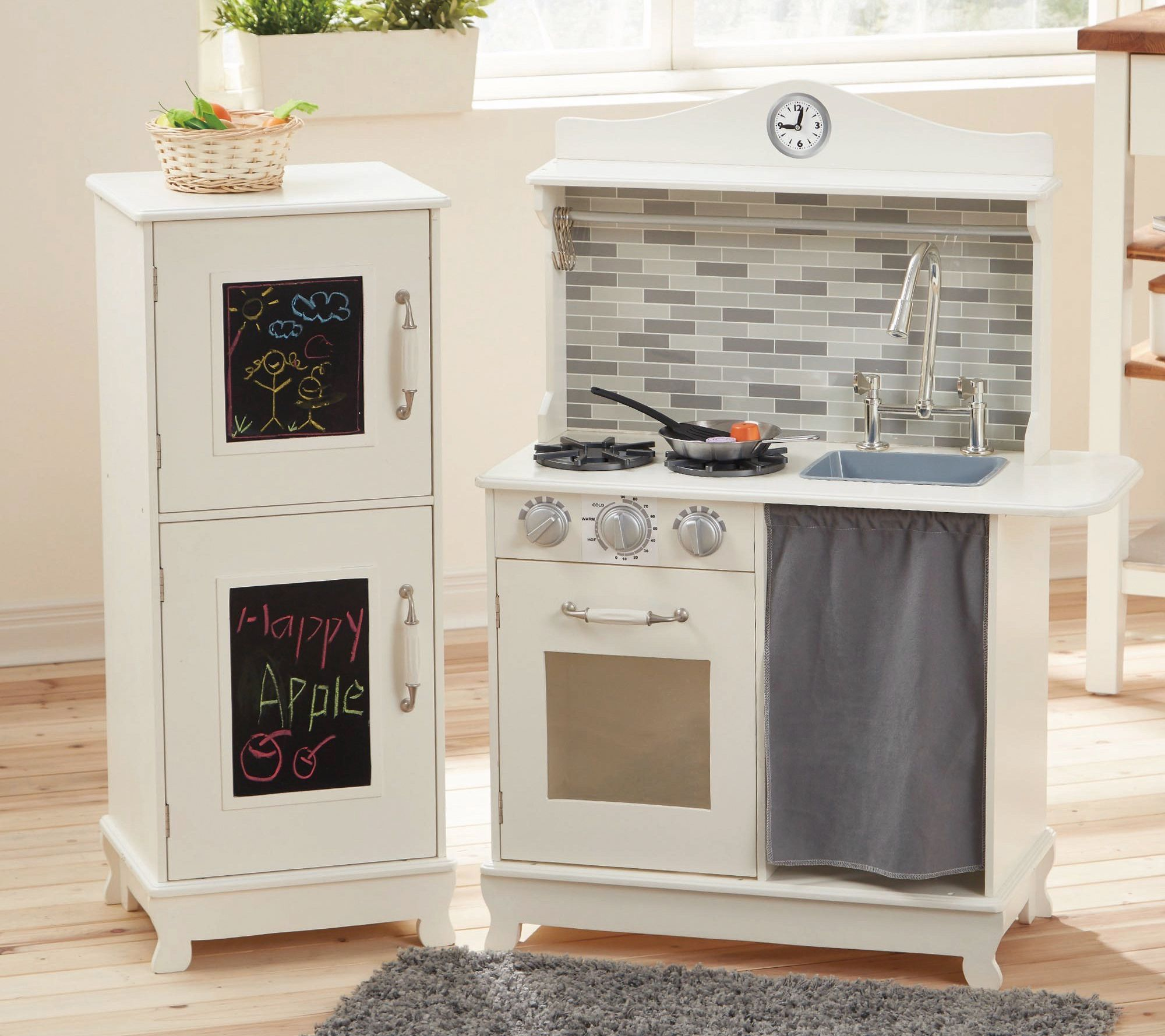 Teamson Kids Farmhouse Kitchen with Stove & Refrigerator - QVC.com