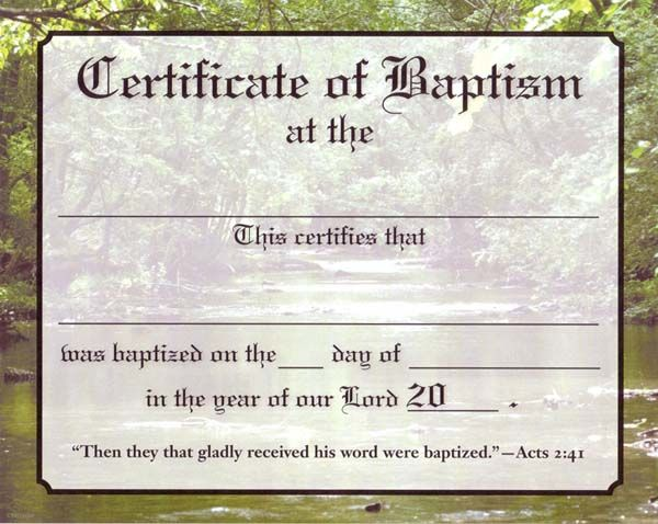 Christian Baptism Certificate Template | About Contact Disclaimer