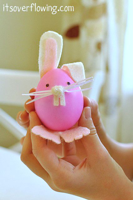 Easter Kids Craft, Bunny and Carrot Eggs