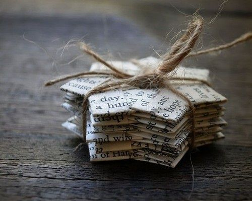 Book Page Christmas Ornaments – 22 Upcycled Ideas to Make