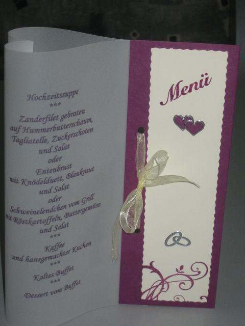 Menkarte Hochzeit in 2019 Menkarten hochzeit Karte