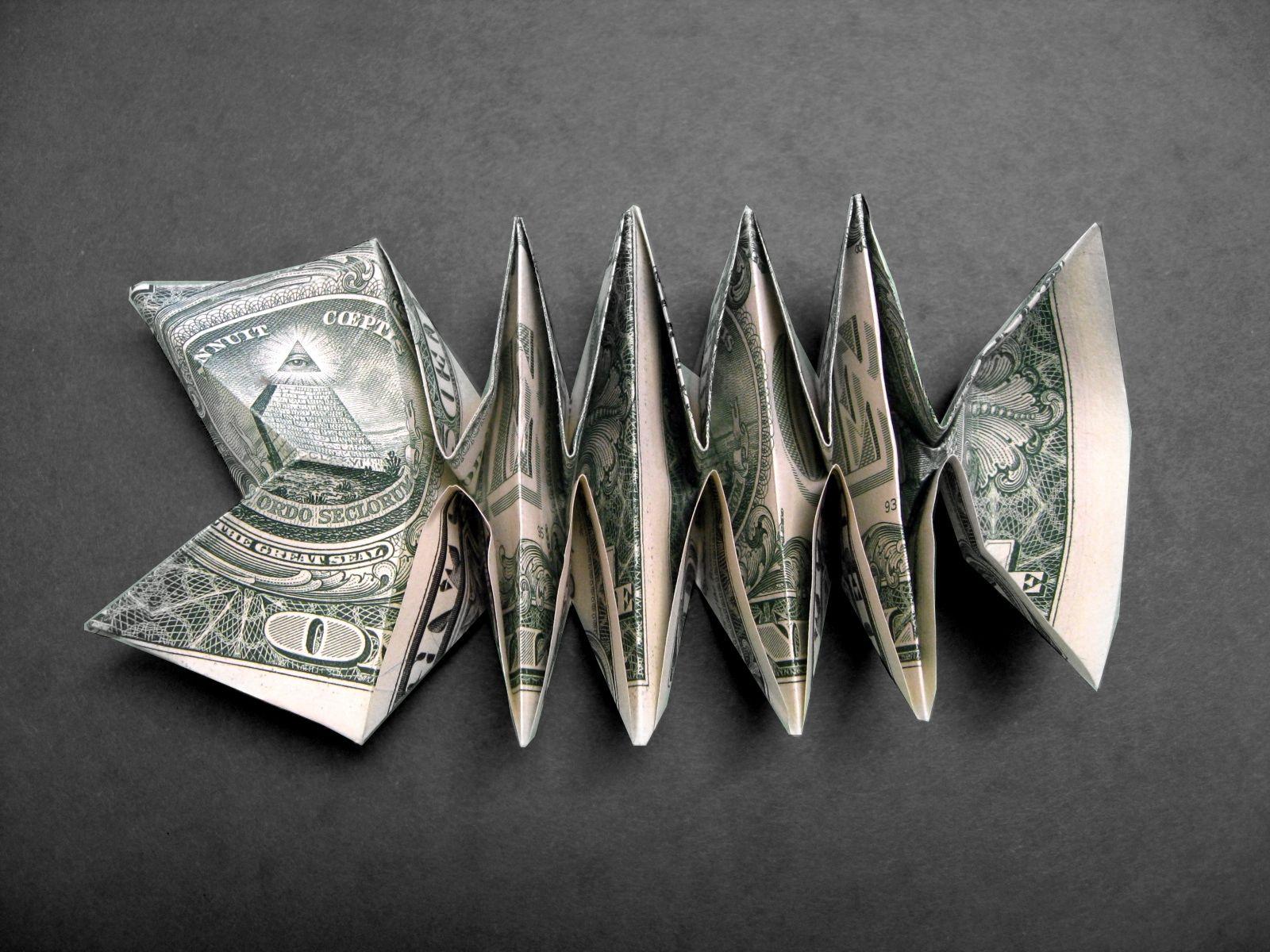 Money Origami Fish Fossil | Money Dollar Origami ... - photo#28