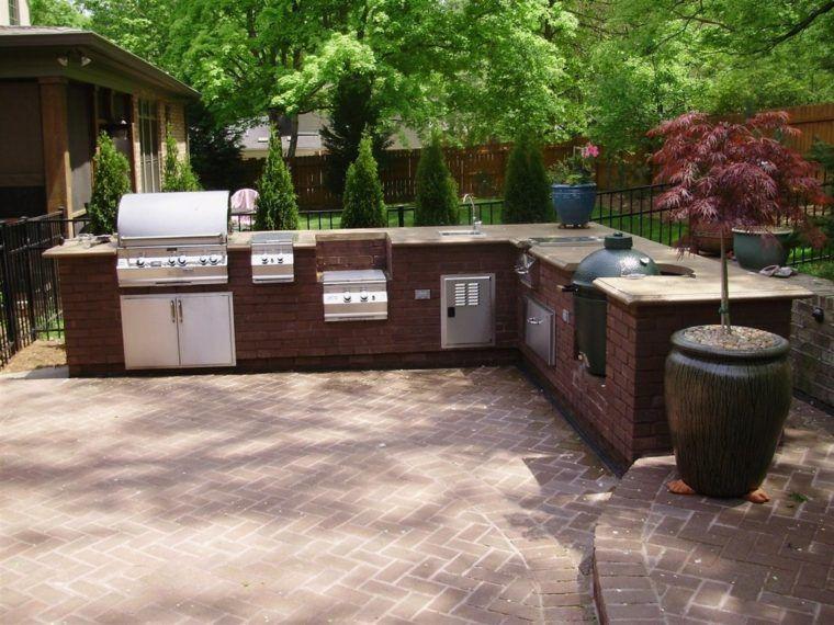 Plan De Travail Exterieur Idee Cuisine Ete Outdoor Kitchen Plans